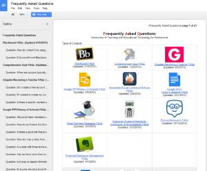 GoogleDoc FAQs
