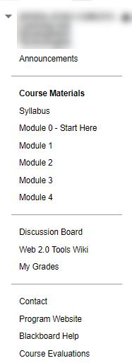 GoodExample of Blackboard Navigation