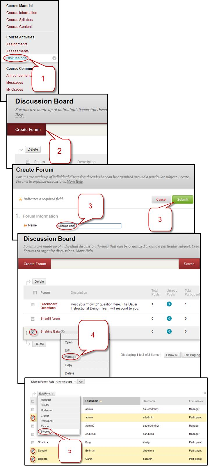 Instruction @ UH | How to Create a Private Discussion Forum for Each