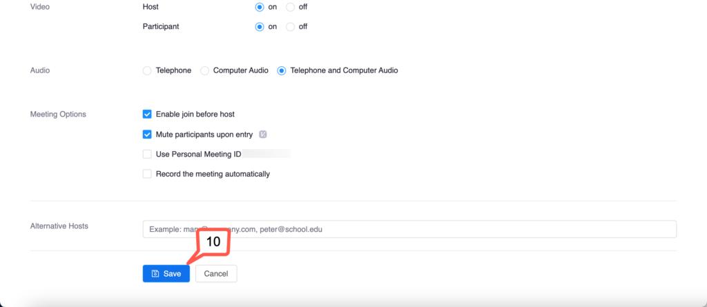 10 save meeting