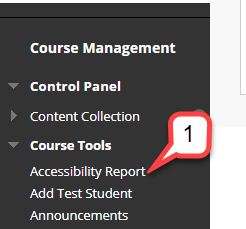 1 course tools accessibility report